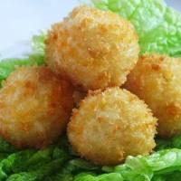 ბრინჯის ბურთულები ყველით